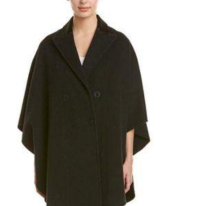 Wool poncho coat